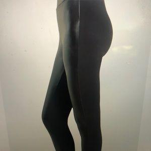 NWOT Black Liquid Leather Front Legging(Two-Tone)S